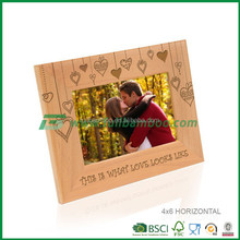 latest design of fantastic love photo frame from bamboo
