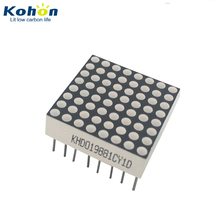 1.9mm 3mm 5mm 8*8 various color common cathode LED dot matrix display