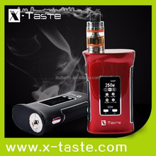 2017 best selling X-Taste X250 e cigarette,electronic cigarette,e-cigar 250W 1.3 OLED low price China factory selling e cig