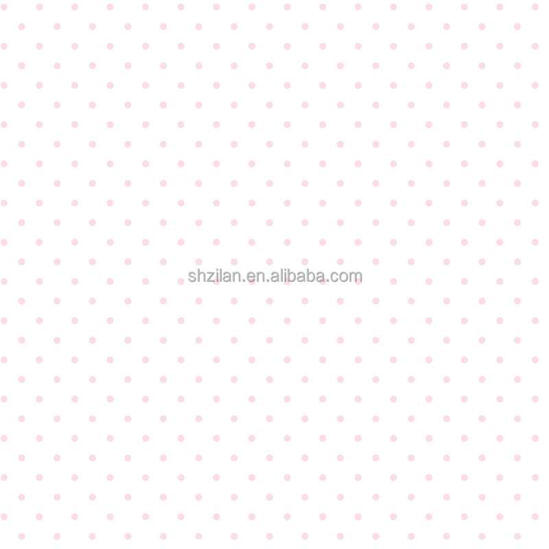 white background and red dot wall paper