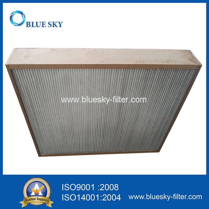 Metal Frame Deep Pleat HEPA Air Filter