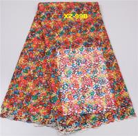 Colorful Guipure Fabric Embroidery Cording Lace Wholesale India Dubai Chemical Lace