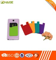 Factory Wholesale 3M Card Holder Smart Silicone Phone Wallet,smartphone silicone smart card wallet,flat wallet
