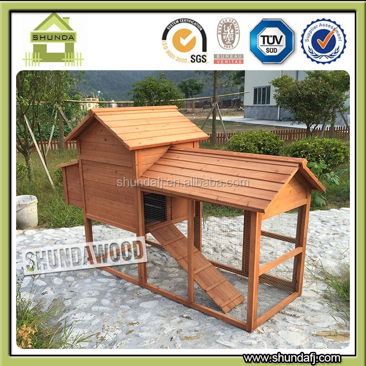 SDC001 Wooden Chicken Coop Poultry house Hen House With Ramp & Nesting Box & Large Big Run