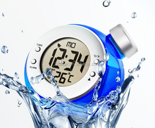 interesting water power digital table clock