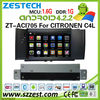 ZESTECH wholesale OEM android gps navigation dvd for CITROEN C4L car dvd with wifi 3g bluetooth