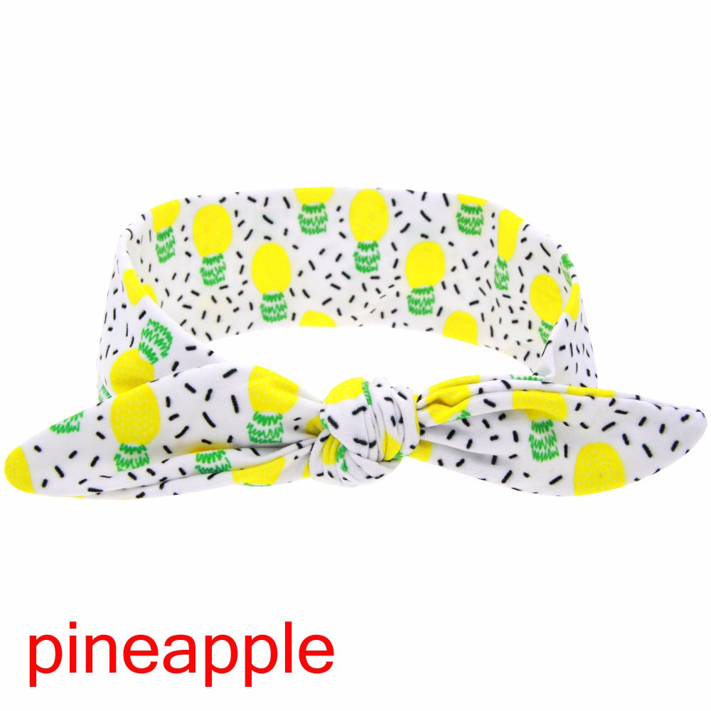 1PC DIY Summer Fruit Pineapple/Lemon/Watermelo Print Baby Girl Newborn Soft Braider Tiara Hair Styling Accessories Tools