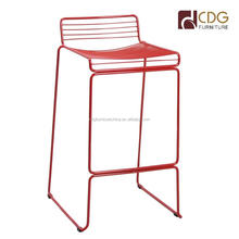 Solid Steel Frame Vintage Bar Stool Classic Chair High Bar Stools Mesh Chair For Bar
