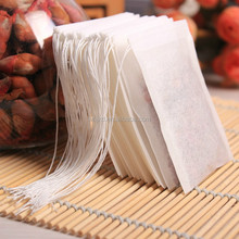 Biodegradable coffee filter paper empty loose tea bags with string