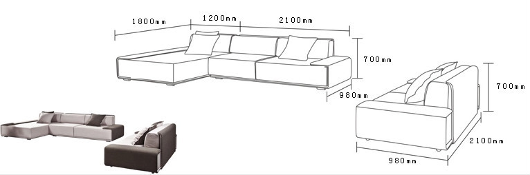 Latest modern living room furniture set buy living room for What size sectional for my room