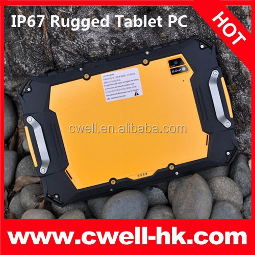 IP67 Waterproof, Shockproof, Dustproof 7 inch P100 3G 7000mah battery tablet with belt support wcdma 850/900/1800/1900MHZ