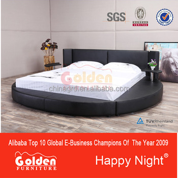 Golden alibaba LED light round bed prices G1005