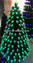hot sell 6ft fiber optic christmas tree popular wrought iron led fiber optic christmas tree
