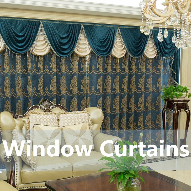 Classic Rome style Strong decoration hotel lobby Banquet hall apartment Electric Intelligence Remote curtain