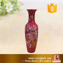 Chinese safflower and wealthy Guanyin bottle ceramic large chinese vases for home decor