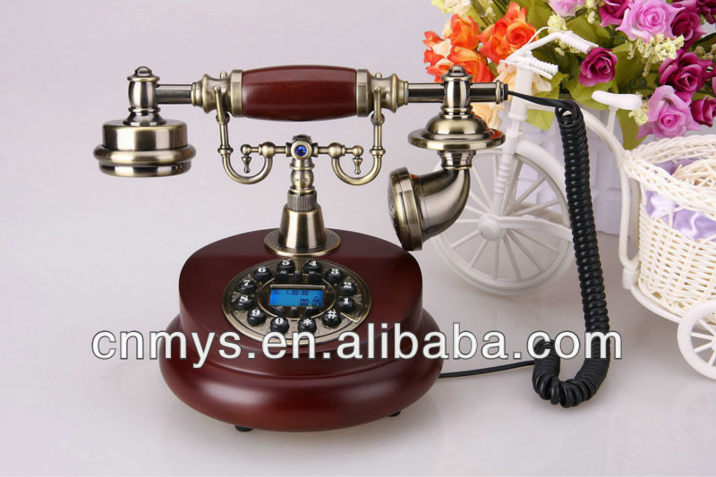 beautiful crystal corded telephone for home decor, antique style telephones