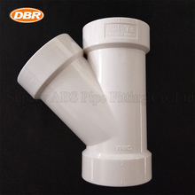 PVC Plumbing Pipe Fitting Names And Parts 1-1/2 Inch Plastic Products WYE