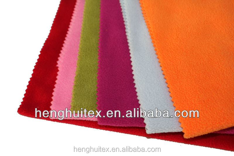 100% polyester polar fleece fabric roll on china
