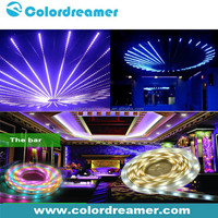 Computer controlled brilliant DMX rgb led flexible 5050 strip light for indoor outdoor stage decoration