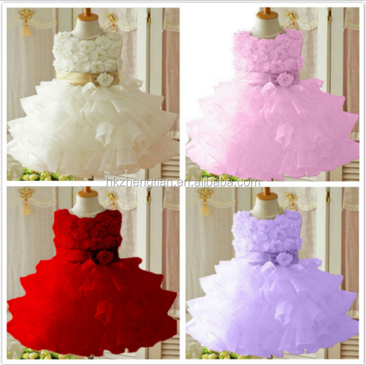 Walson kids birthday party dress handmade flower girl dresses party dress in stock