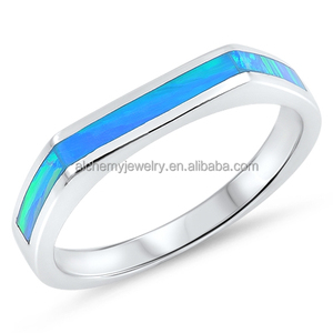 wholesale fashion sterling silver jewelry trendy jewelry 925 silver CZ gemstone opal ring