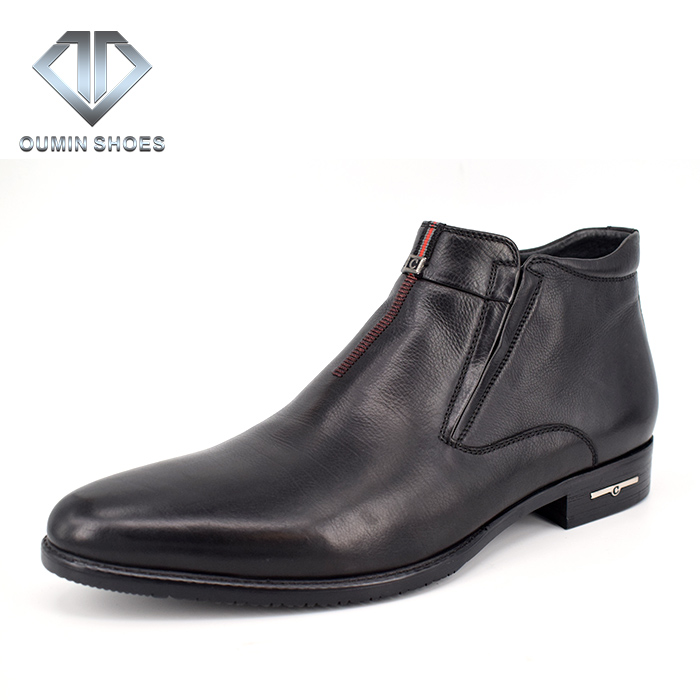latest rubber sole leather long boots pictures for men