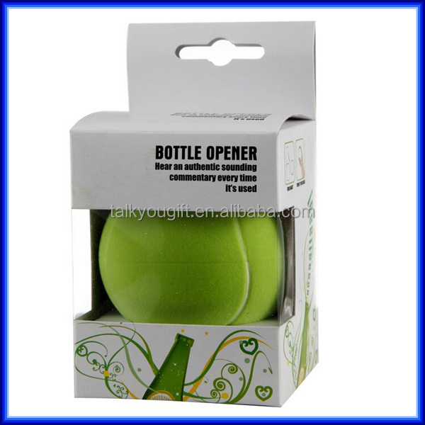 sport lover plastic round mini ball bottle opener with magnet music sound foo. Black Bedroom Furniture Sets. Home Design Ideas