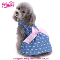 Wholesale cute pet dress bowknot dog clothes dress good quality pet dress
