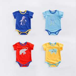 Alibaba Store Wholesale Organic Cotton Import Print Velvet Baby Animal Clothes Romper