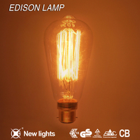 best selling china cabinet st64 e27 40w edison bulb