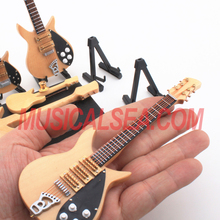 Miniature wooden electric guitar model musical instrument craft gift for kid
