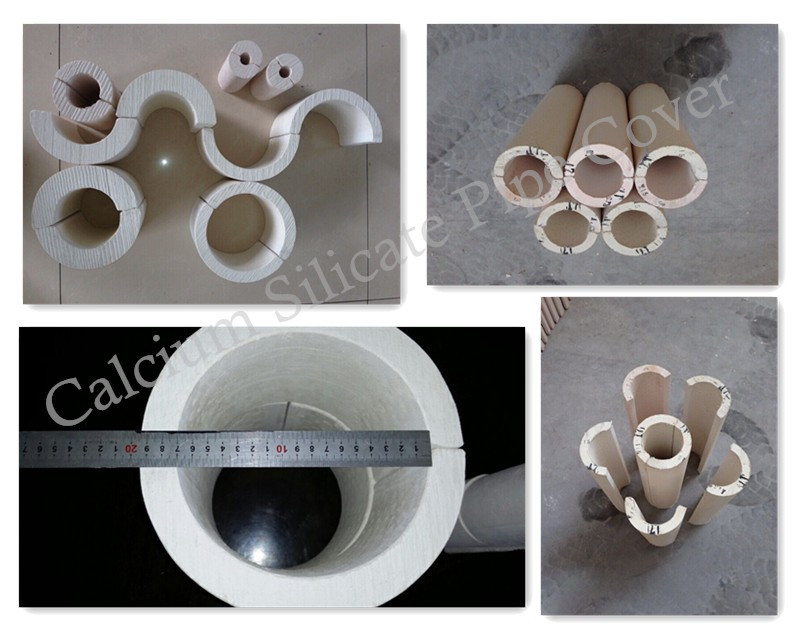 Calcium Silicate Pipe Cover : Heat insulation pipe for oil and gas calcium silicate