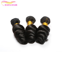 Wholesale Double Drawn Full Cuticle Virgin Loose Wave Brazilian Hair 3 Bundles