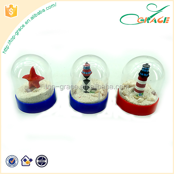 Resin Starfish Lighthouse Water Ball Marine Souvenir Snow Globe