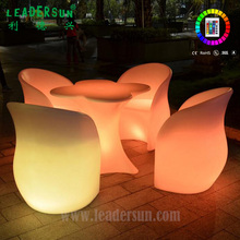 Cordless rechargeable RGB 16color waterproof Fashion Plastic High Quality Led Auditorium Chair