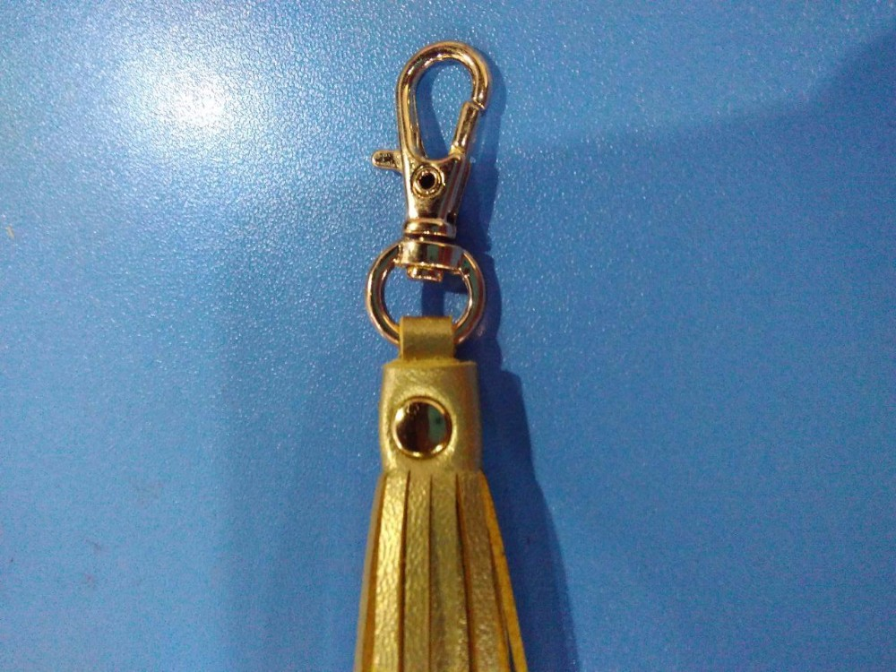 double sides gold leather tassel