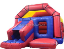 inflatables jumping castle with velcro art panel /inflatable slide combo