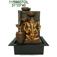 16inch Ganesh Water Fountain Hindu Religious Gift with 4 Tiers Terracota