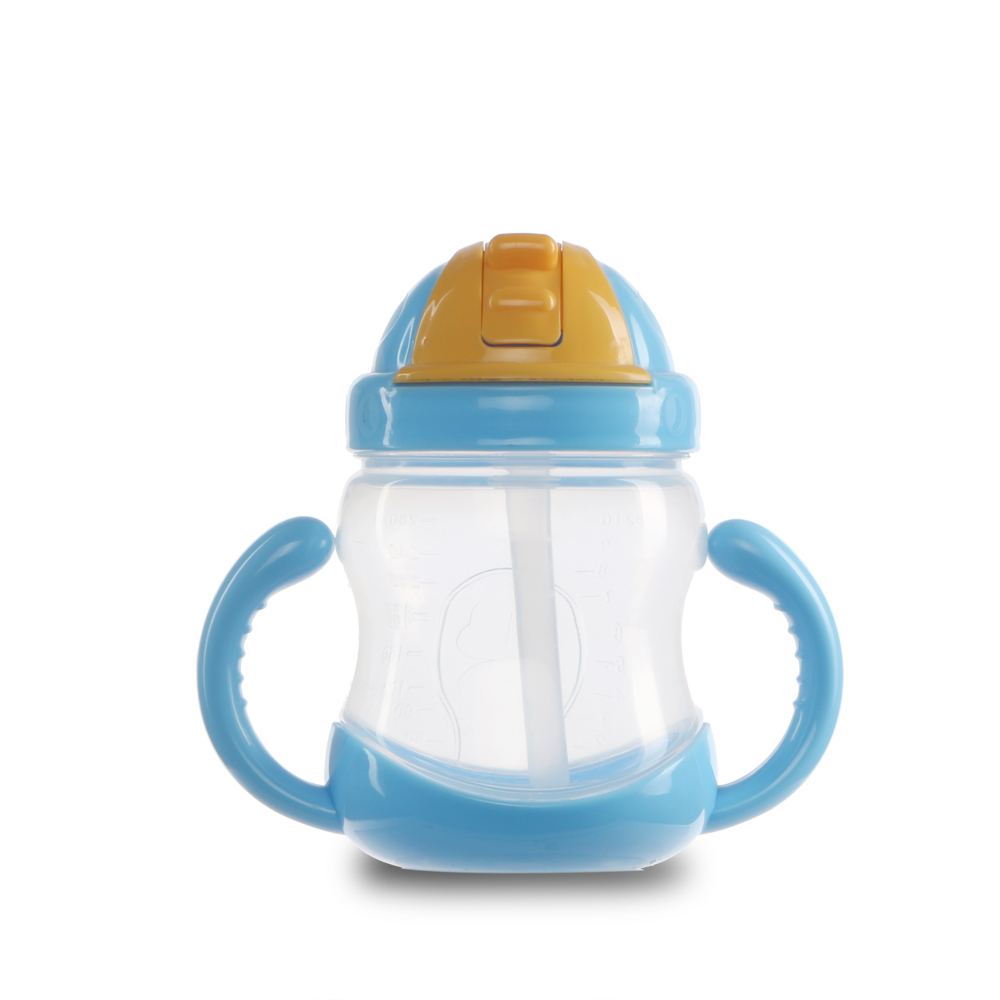 factory wholesale friendly safe pp kids training drink straw bottle baby sippy cup