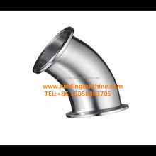 Stainless Steel 45 degree Sanitary Ferrule Elbow joint Pipe