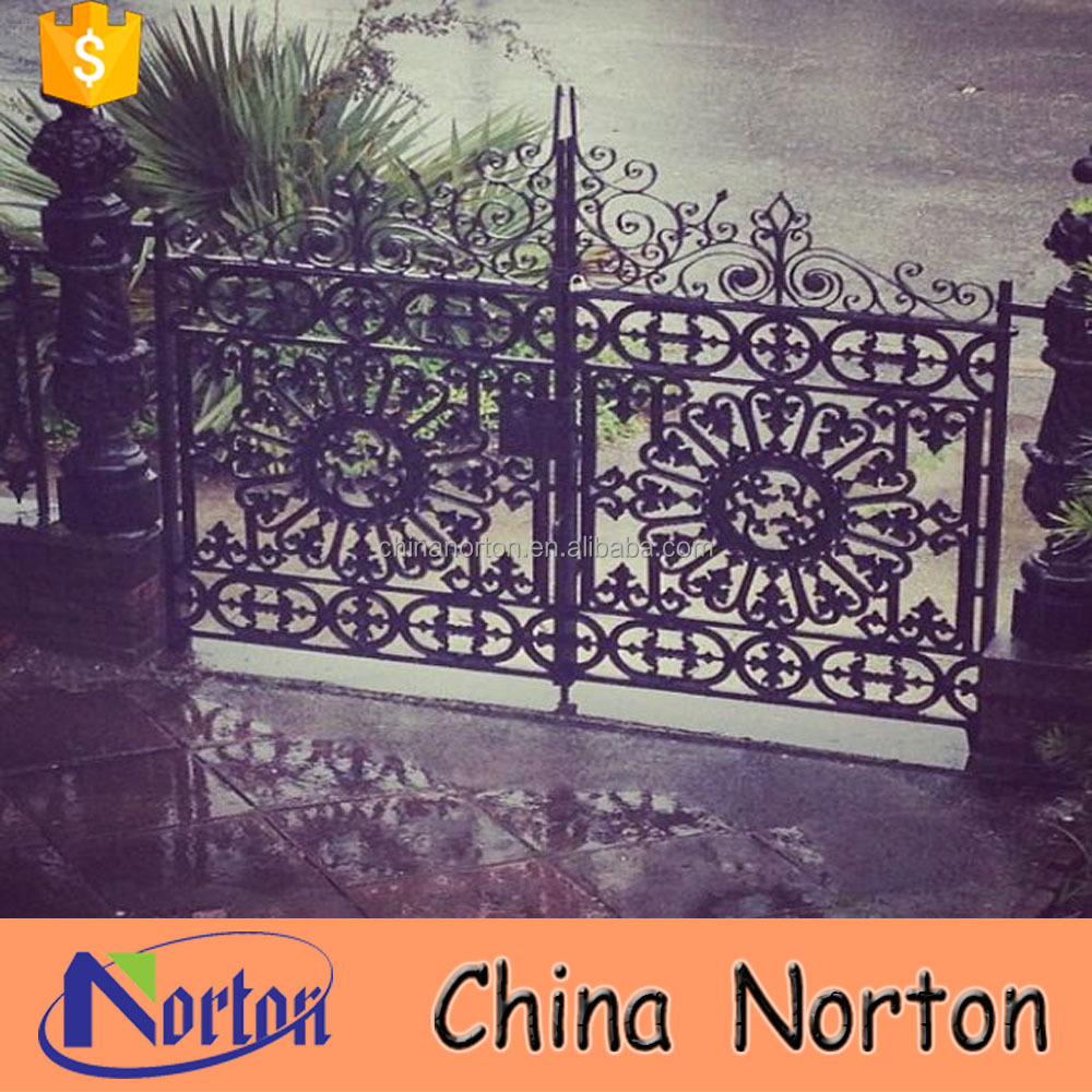 New design wrought iron black security entrance house main gate NT--WIA066