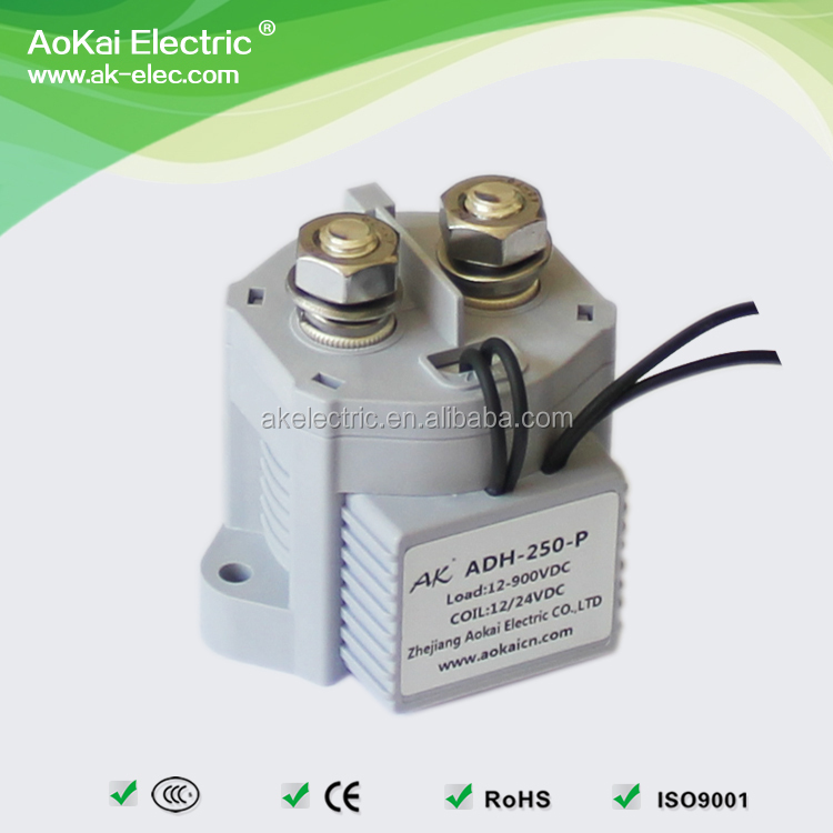 ADH250A-P 12VDC 250A <strong>M10</strong> External <strong>Thread</strong> DC Relay Used in Entertainmental Leisure Vehicles AOKAI High Voltage DC Contactor