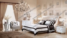 Modern style China factory making king size bed white latest soft PU leather upholstery beds