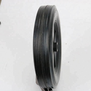 200MM small cart wheel solid rubber tire with metal rim
