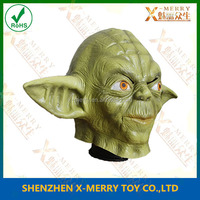 X-MERRY Satr wars latex Yoda realistic mask with hair adult head halloween mask