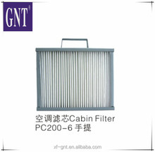 Excavator air conditioning parts Cabin Filter for PC200-6