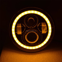 SET motorcycle-engines Round 7inch 75W LED Headlight 80w 6500k bulbs Led drving parking light led motorcycle tail light