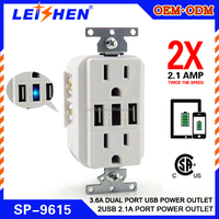 light switch,USA usb wall electrical socket outlet,USB charger