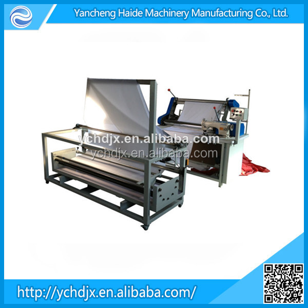 Haide fabric double folding and rolling machine