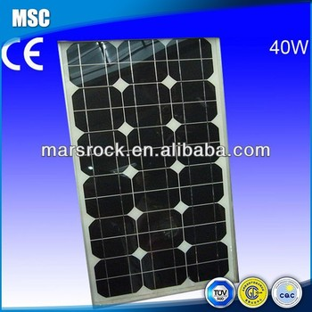 40W 18V Mono Solar Panel Module with CE, TUV, RoHS, UL Certificates
